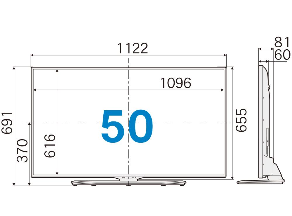 4K液晶テレビ(50型)