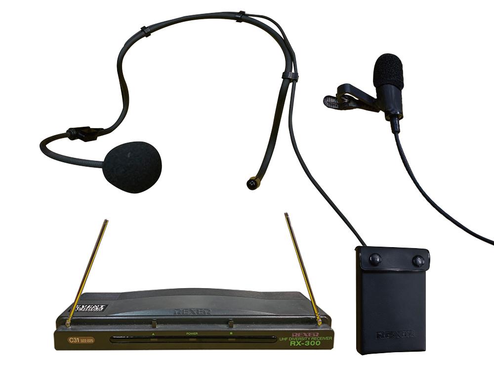 ワイヤレス ピン/ヘッドマイク RX300/C31